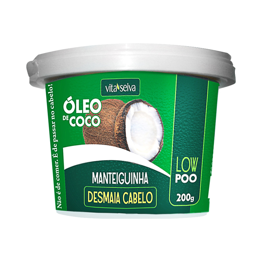 DESMAIA CABELO MANTEIGUINHA ÓLEO DE CÔCO 200G
