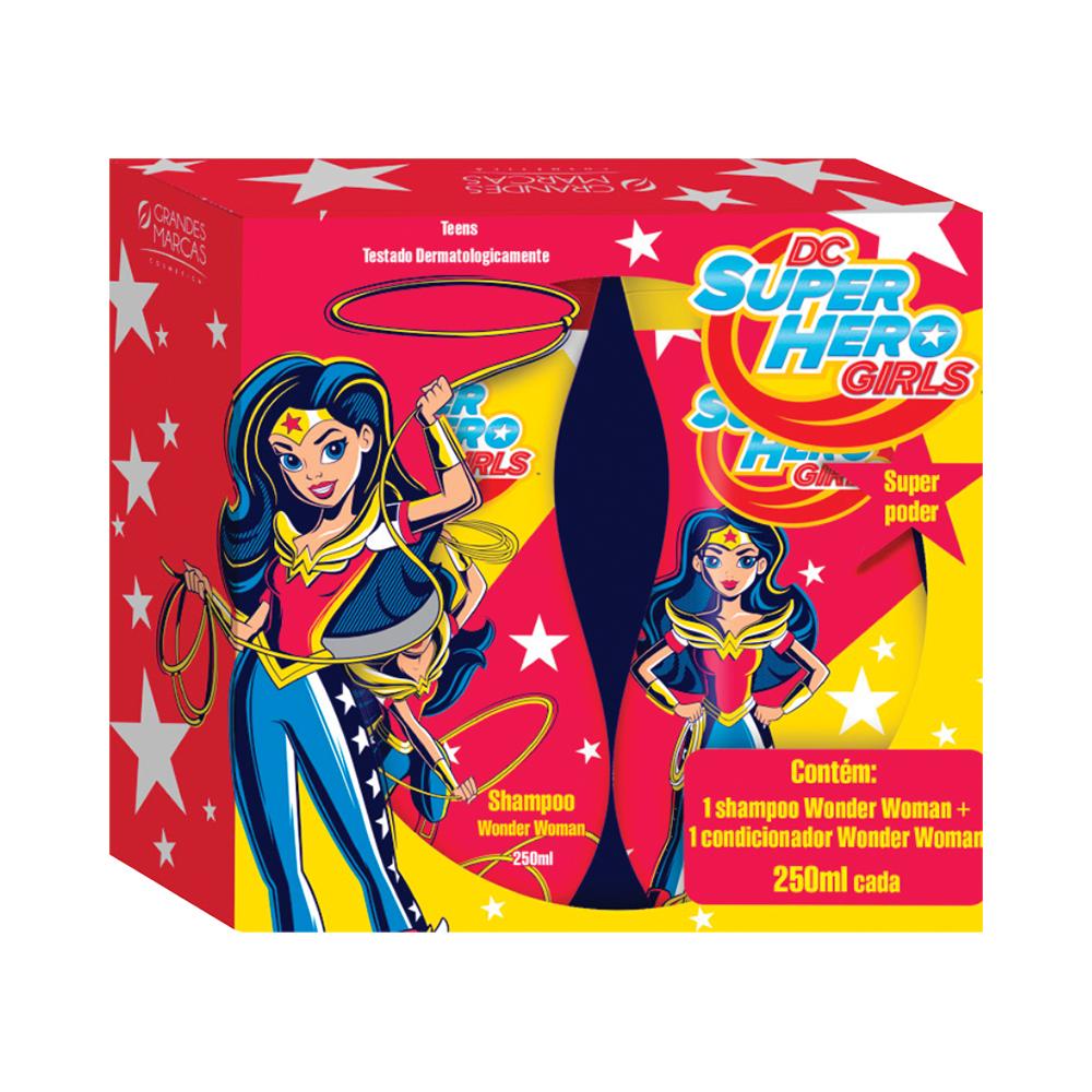 KIT DC SUPER HERO GIRLS - SHAMPOO + COND WONDER WOMAN 250ML