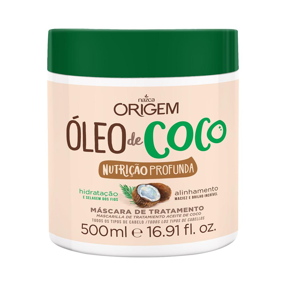 MÁSCARA DE TRATAMENTO ÓLEO DE COCO ORIGEM NAZCA - 500G