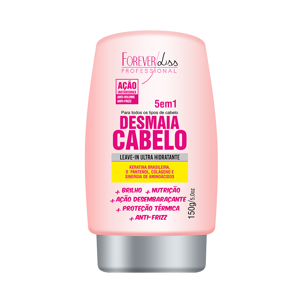 LEAVE-IN DESMAIA CABELO FOREVER LISS - 5 EM 1 150G